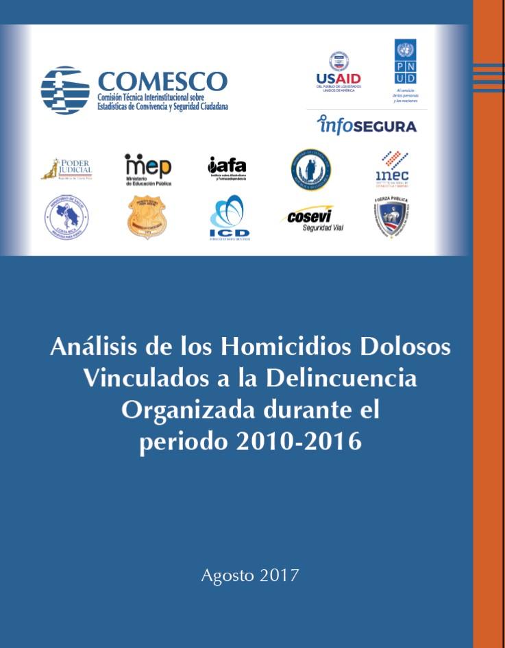 homicidios dolosos vinculados a delincuencia organizada, Costa Rica