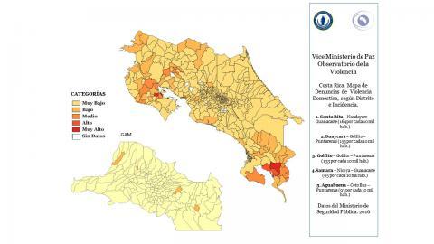 Mapa de denuncias de violencia doméstica